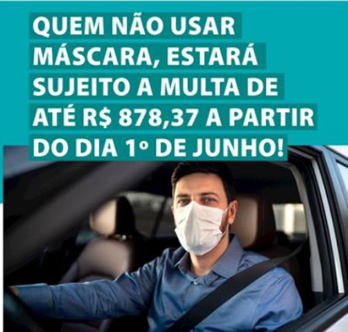 Palmitos estipula multa de até R$ 878,37 para quem não usar máscara a partir de junho